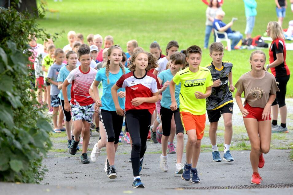 Der Leichtathletik-Nachwuchs feierte im Herrmannbad seinen Saisonabschluss.
