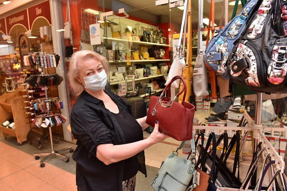 Bertina Zimmermann betreibt ihr Lederwarengeschäft bereits seit über 26 Jahren.