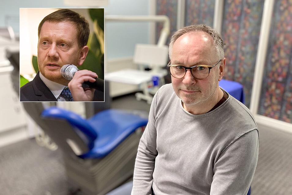Der Löbauer Zahnarzt Dr. Arndt Müller kritisiert in einem Brief an Ministerpräsident Michael Kretschmer dessen Corona-Politik. Der MP hat nun geantwortet.