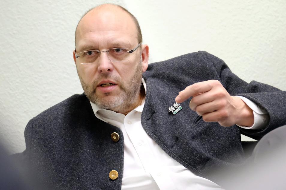 Findet in Zeiten der Corona-Krise deutliche Worte: Meißens Oberbürgermeister Olaf Raschke.