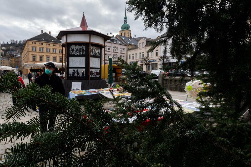Im Corona-Jahr 2020 gab es nur den Wochenmarkt in Sebnitz, keinen Weihnachtsmarkt.