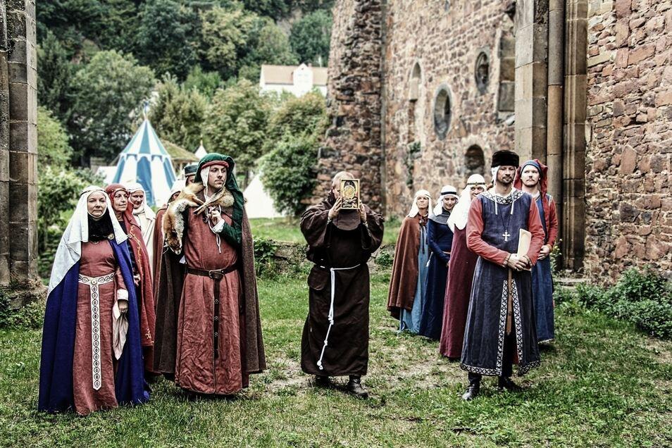 Auf Burg Gnandstein wird das Mittelalter lebendig.