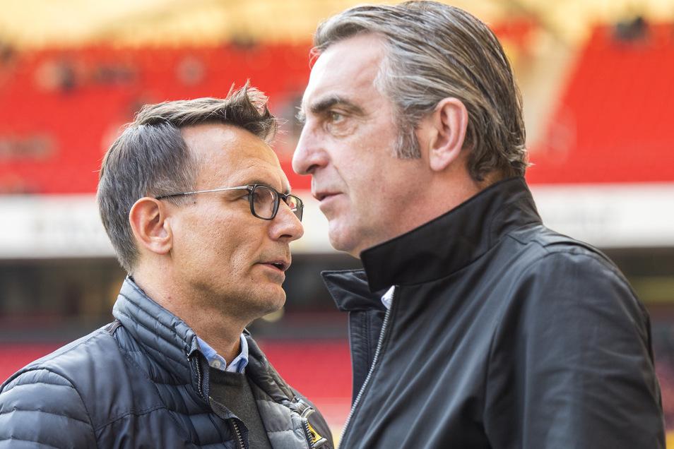Sie arbeiten professionell zusammen, nicht mehr, nicht weniger. Auch deshalb sollte es einen dritten Geschäftsführer neben Michael Born (links) und Ralf Minge geben.
