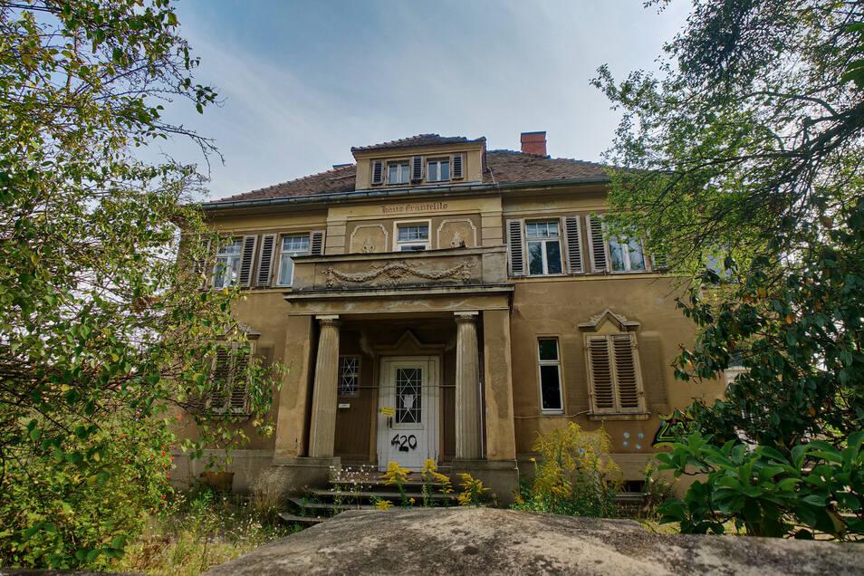 Dieses Haus wurde am Sonnabend von Aktivisten besetzt.