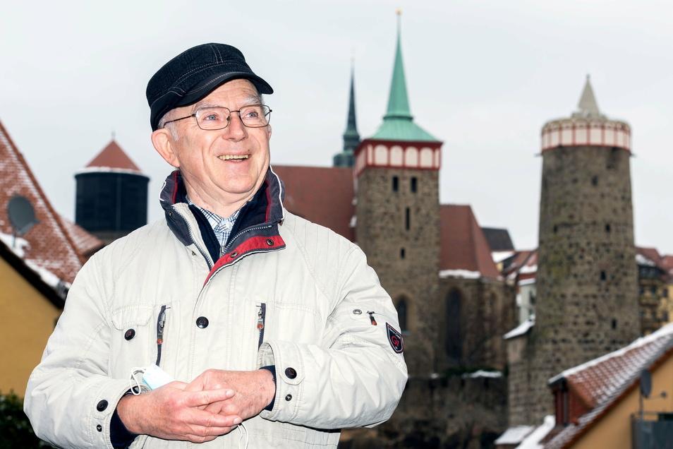 Heinz Henke ist einer der ältesten Stadtführer von Bautzen. Er weiß viel zu berichten über Pandemien in früheren Jahren.