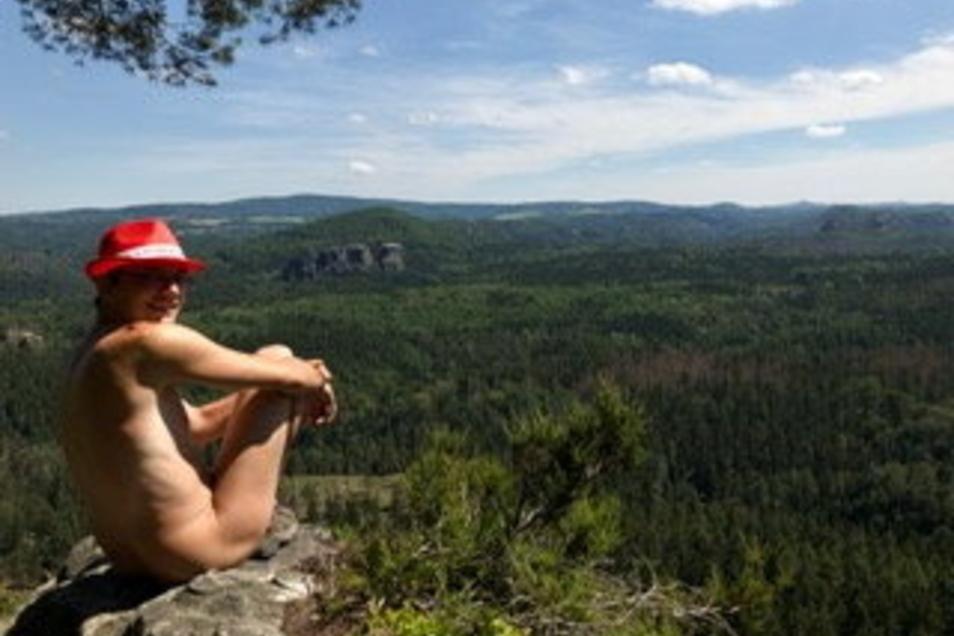 Martin Nitsche wandert am liebsten nackt durch die Sächsische Schweiz.