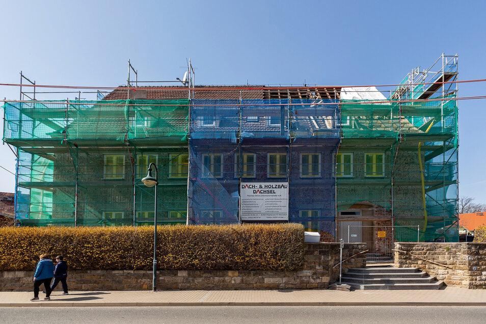 Bis Ende Juni sollen die Arbeiten an der Kita Sonnenschein Haus II beendet sein.