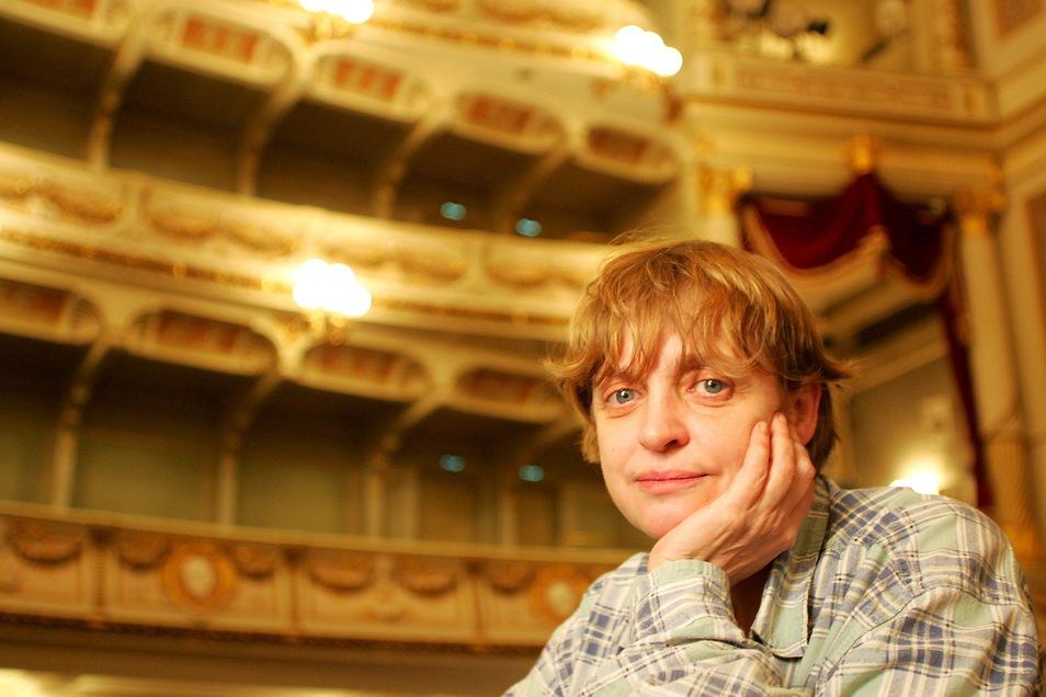 """Katharina Thalbach, 2006, als sie in der Semperoper Engelbert Humperdincks """"Hänsel und Gretel"""" inszeniert hat."""