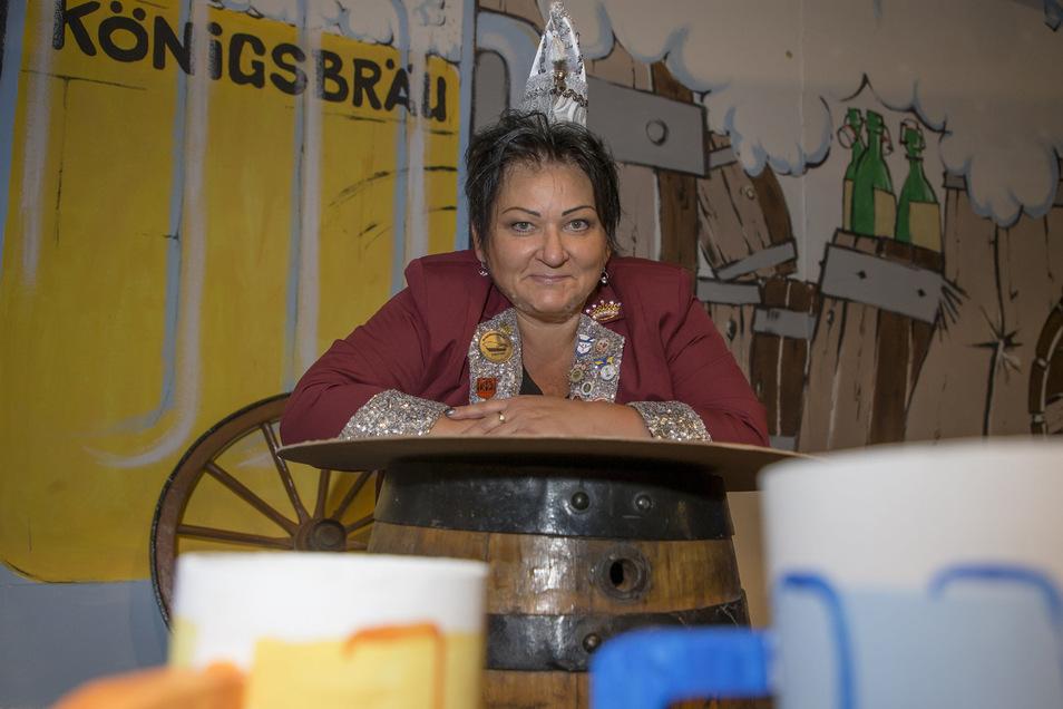 Ilona Beger ist seit zehn Jahren Präsidentin des Wilsdsruffer Karnevalsvereins.