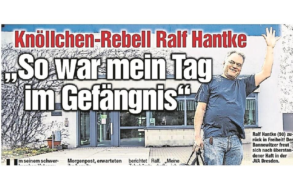 So schrieb die Morgenpost im April 2018 über Ralf Hantkes Tag im Knast. Die Erzwingungshaft blieb wirkungslos. Der Knöllchenrebell zahlte bis heute nicht.
