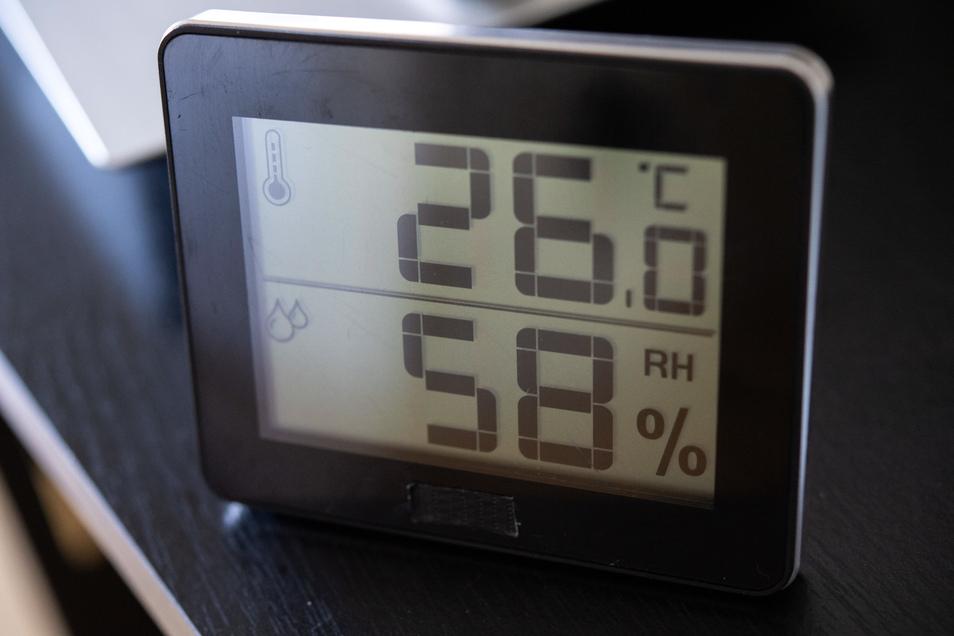 Der Wert der Luftfeuchtigkeit im Wohnraum sollte unter 60 Prozent liegen.