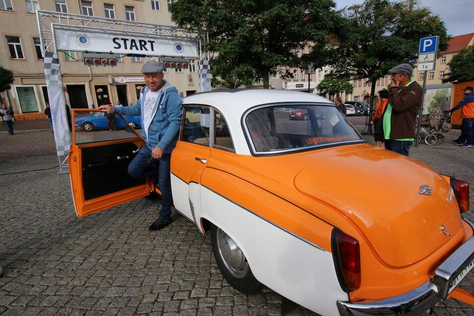 Olaf Roßberg war bei der Rallye im vergangenen Jahr mit der Startnummer 1 unterwegs. Die Organisatoren hoffen auch in diesem Jahr auf zahlreiche Teilnehmer.