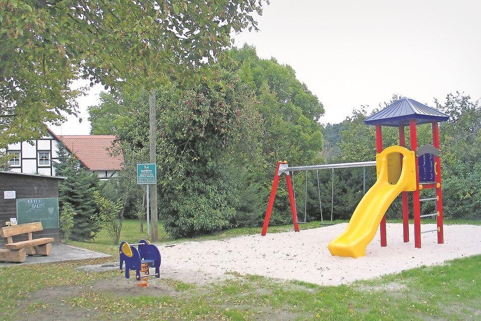 Klein, aber fein – der neue Spielplatz im Boxberger Ortsteil Tauer.