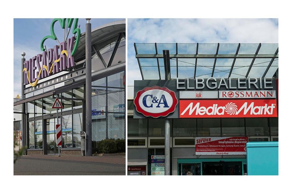 Riesapark und Elbgalerie beherbergen viele Geschäfte. Welche davon ab Montag wieder öffnen dürfen, ist noch immer nicht ganz klar. Inhaber und Centerleitungen warten nach wie vor auf die neue Rechtsvorschrift des Landes dazu.