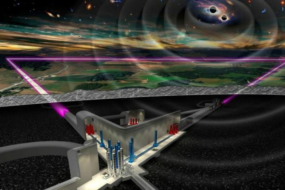 In Tunneln unter der Lausitz soll das Einstein-Teleskop Gravitationswellen erforschen.