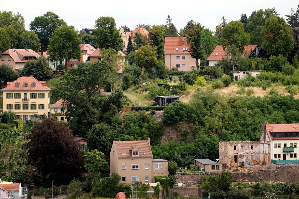 Am Hang oberhalb der Hornschen Villa sollen zwei Gebäude mit insgesamt fünf Wohnungen errichtet werden.