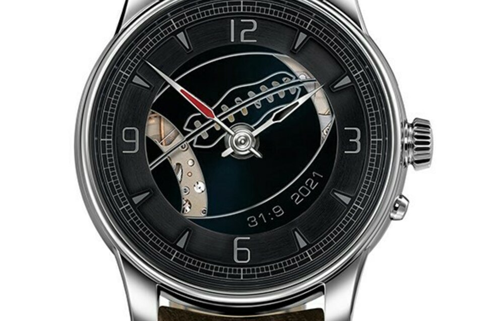 So wird die Uhr aussehen, die Moritz Grossmann anlässlich des Super Bowls anfertigen wird.