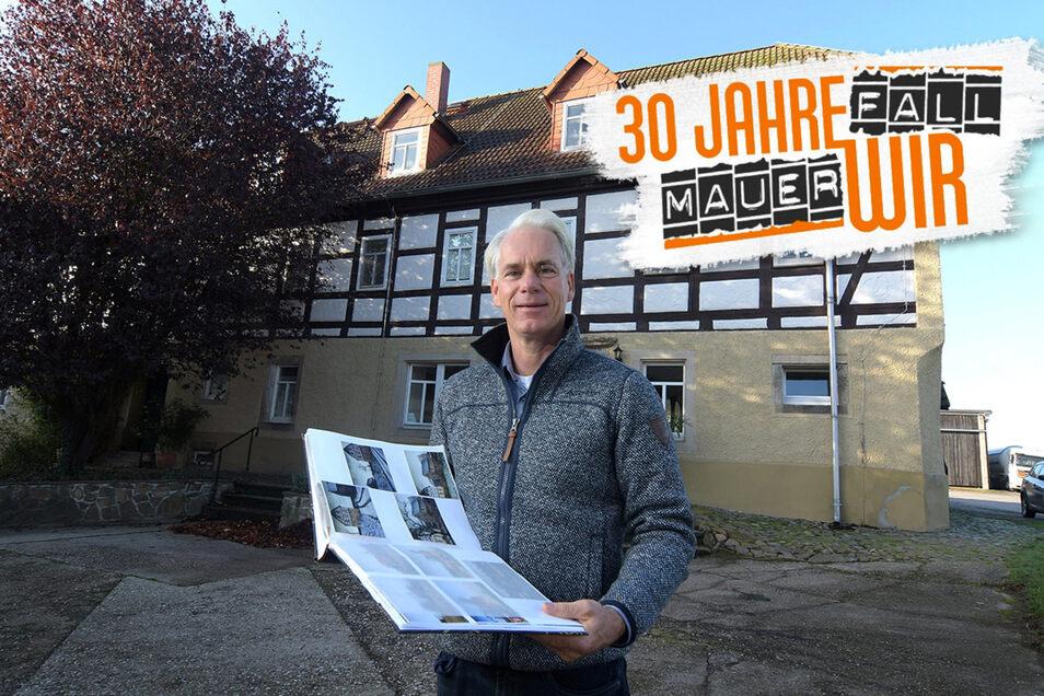 Der Hof in Littdorf war gut in Schuss, als ihn Heinz Friedrich Schönleber 1991 übernahm. Es gab sogar schon einen Telefonanschluss. Zunächst richtete er sich eine Bleibe ein, danach baute er nach und nach seinen Betrieb auf.