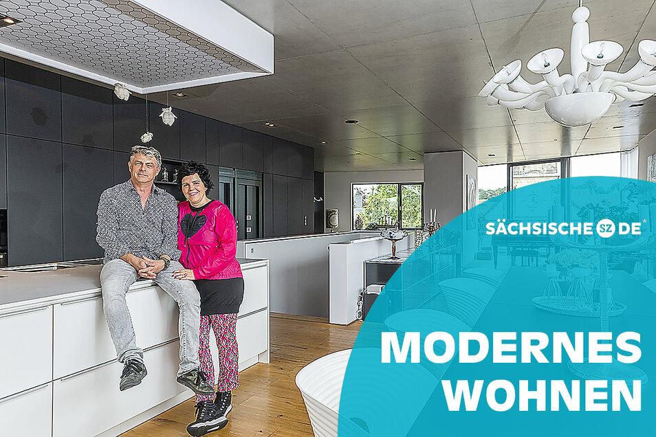 """""""Wir wollten dieses urbane Gefühl"""": Blick in das Haus von Annette und Uwe Seidel in Pirna."""