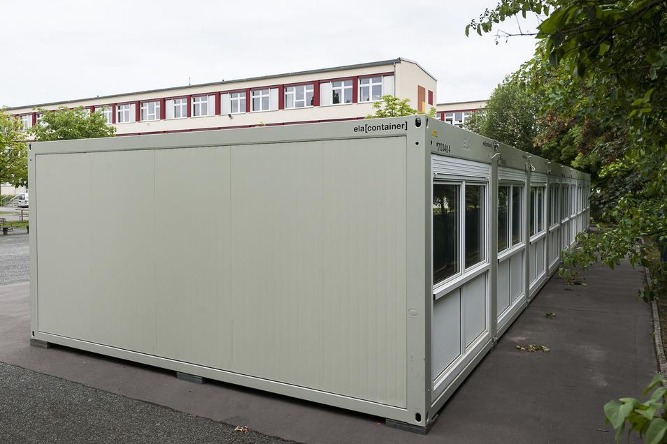 So sehen die Container an der Oberschule in Görlitz-Rauschwalde aus.
