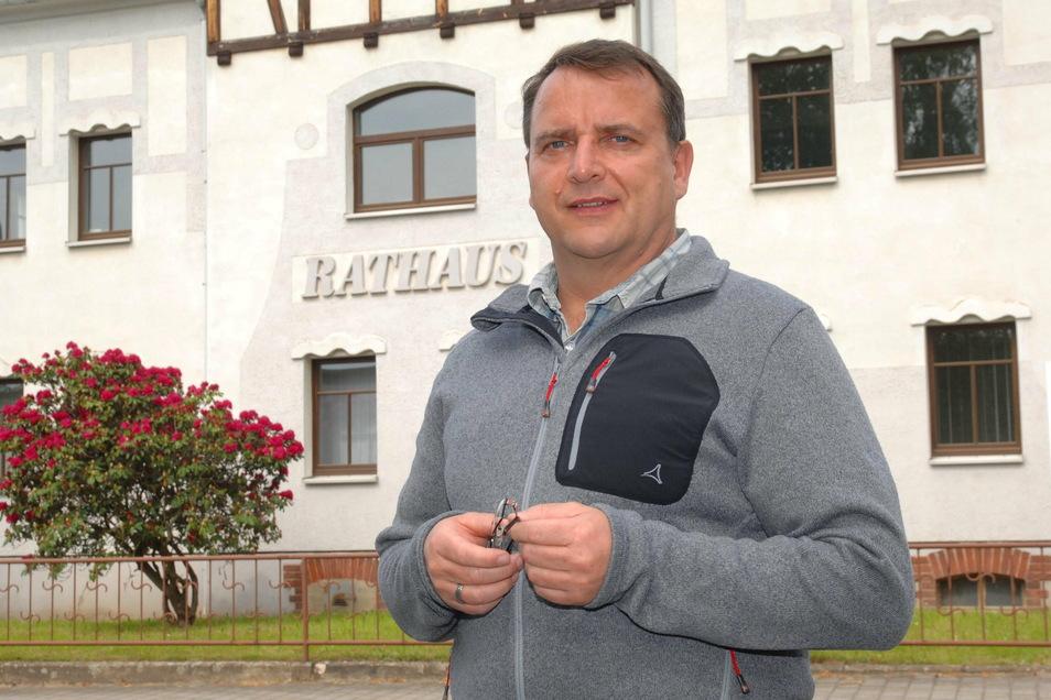 Beiersdorfs Bürgermeister und Wehrleiter Hagen Kettmann.