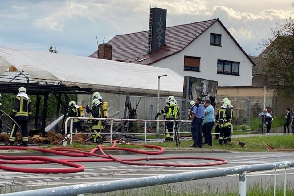 Am Dienstag hat an der Hochwald-/Schrammstraße in Zittau ein Schuppen gebrannt.