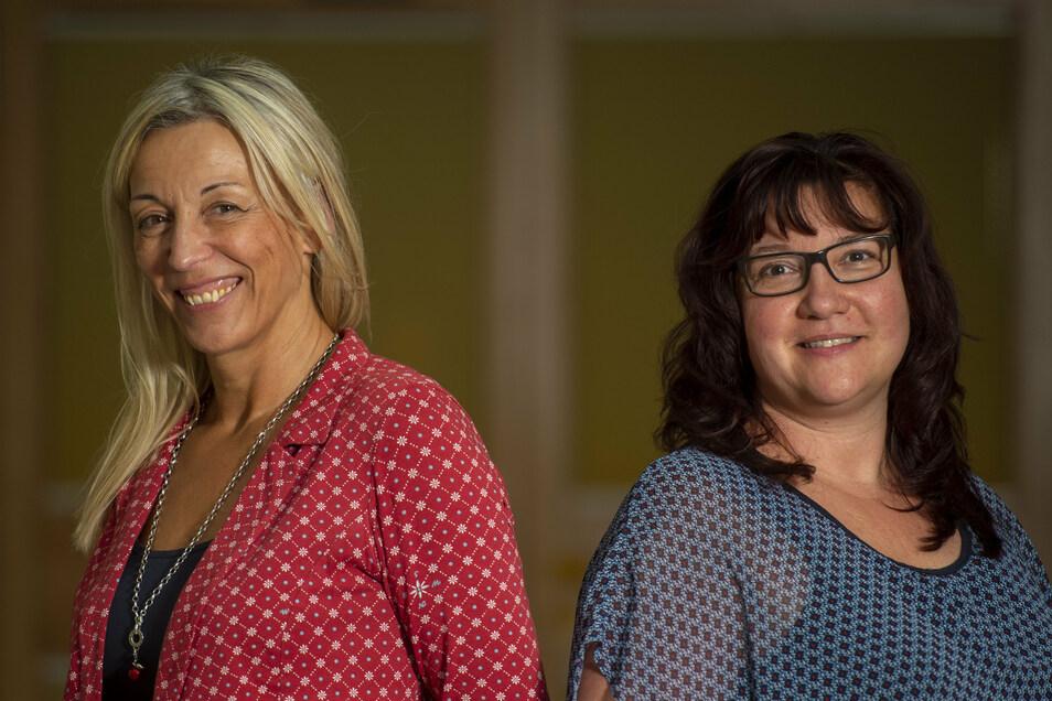 """Die Leiterin des Diakonie-Seniorenheims """"Helene Schmieder"""" in Großenhain Katrin Wittig-Lau (l.) und ihre neue Assistentin Anja Oertel."""