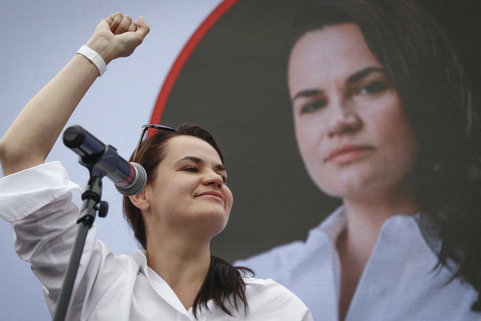 Die Opposition hält die 37-jährige Tichanowskaja für die wahre Gewinnerin der Wahl in Belarus.