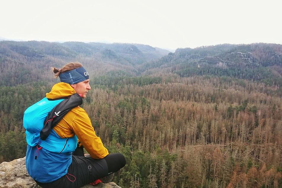 Extremsportler und Naturschützer Stefan Utke aus Dresden will den Forststeig ablaufen - an nur einem Tag.