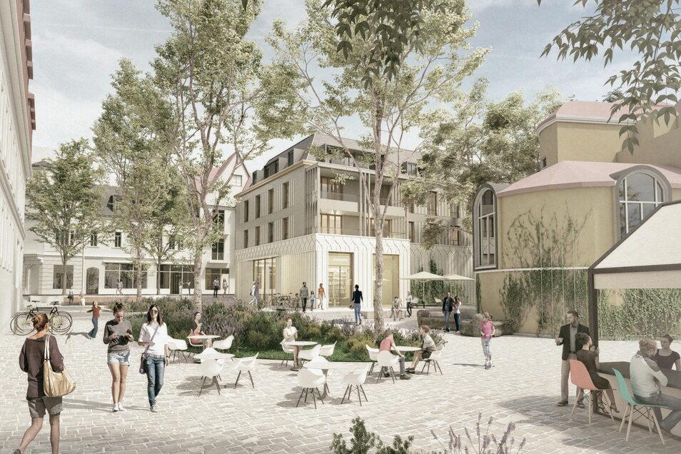 So soll der Neubau auf dem Weißen Hirsch aussehen. Der Siegerentwurf stammt von Tchoban Voss Architekten.