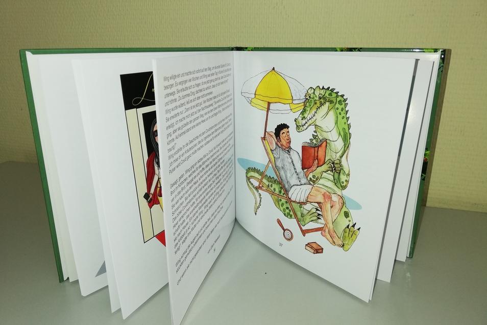 Auch das Krokodil namens Corona kommt in dem Märchenbuch vor.