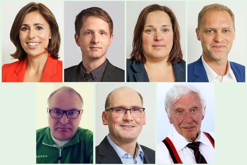 Diese Kandidaten aus dem Wahlkreis 52/Bautzen 1 wollen in den Landtag.