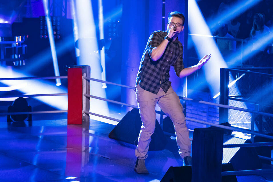 Manuel Süß tritt am Donnerstag zum zweiten Mal bei der Castingshow The Voice of Germany an, dieses Mal singt er in einem Boxring.