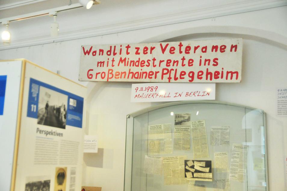 Die Monate von der Friedlichen Revolution 1989 bis zur deutschen Einheit im Oktober vor 30 Jahren in Großenhain beleuchtet die derzeitige Sonderausstellung im Museum Alte Lateinschule.