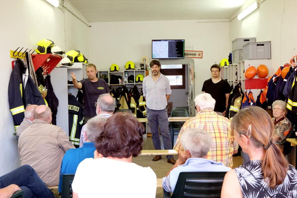 Beim ersten Treffen im Gerätehaus der Freiwilligen Feuerwehr in Heynitz haben viele Einwohner bereits wertvolle Informationen geben können.