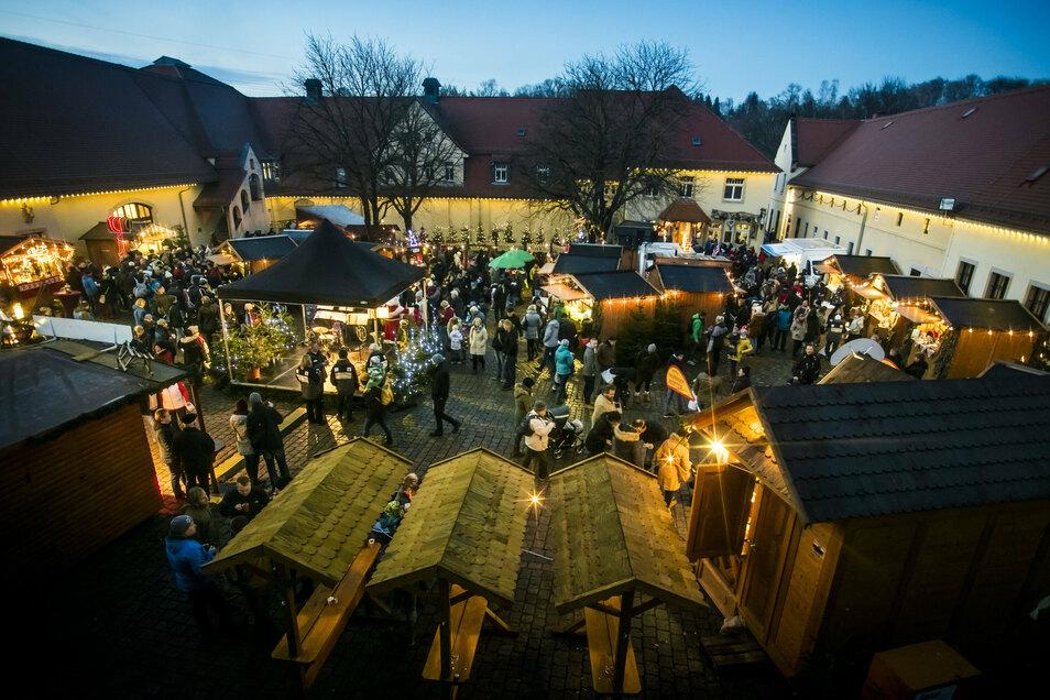 Ob der Weihnachtsmarkt auf Schloss Burgk in Freital stattfindet, ist noch unklar.