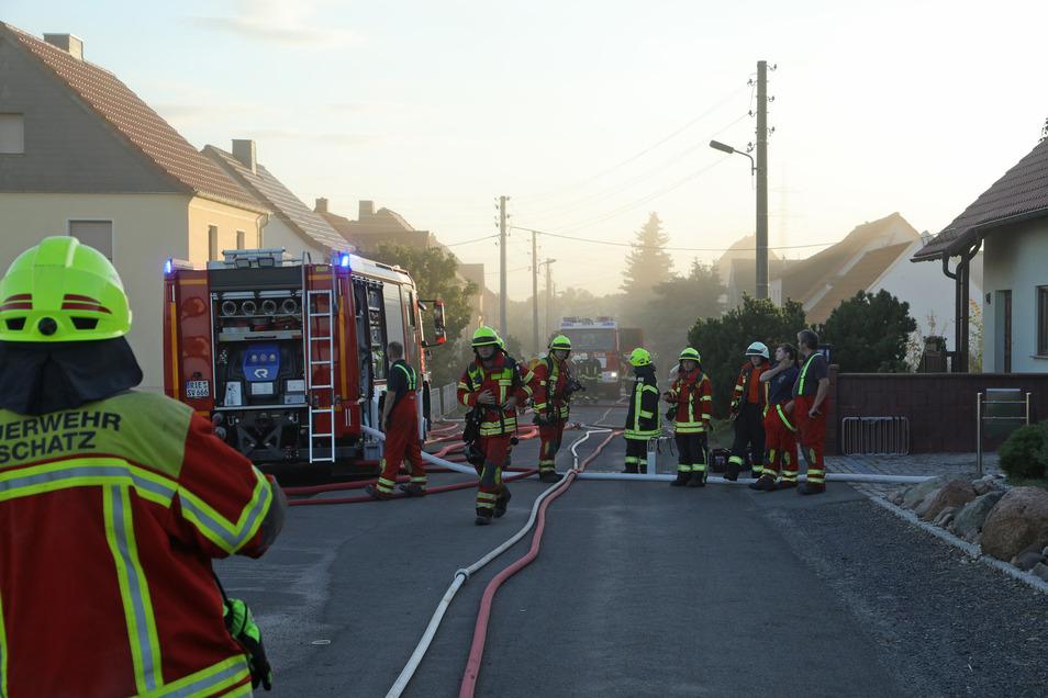 170 Feuerwehrleute waren in Canitz im Einsatz. Hinzu kamen noch Polizei und Rettungsdienst.
