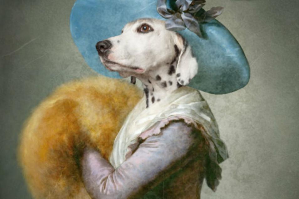 Dalmatinerhündin Giuli kann auch anders - Herrchen und Frauchen freuten sich über dieses Aristo-Pet-Foto von Henriette Braun, das ganz nebenbei bei ihrer eigenen Hochzeit im Sommer entstand. Dank geschickter Fotobearbeitung wurde eine Adlige aus Giuli.