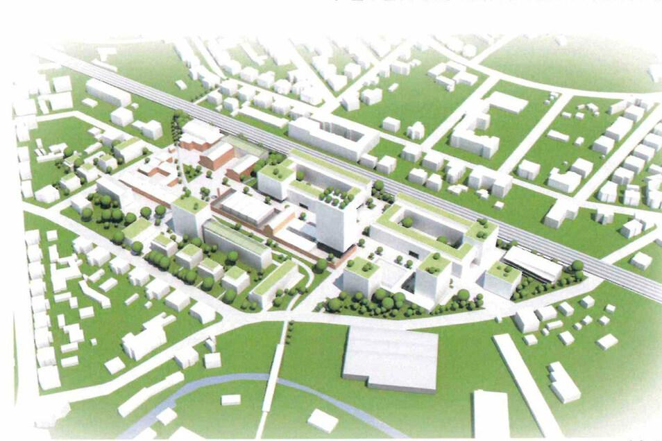 Der Entwurf, der als Grundlage für die Gestaltung der Mafa-Brache dient. Er stammt von einem der bekanntesten deutschen Architekten: Peter Kulka.