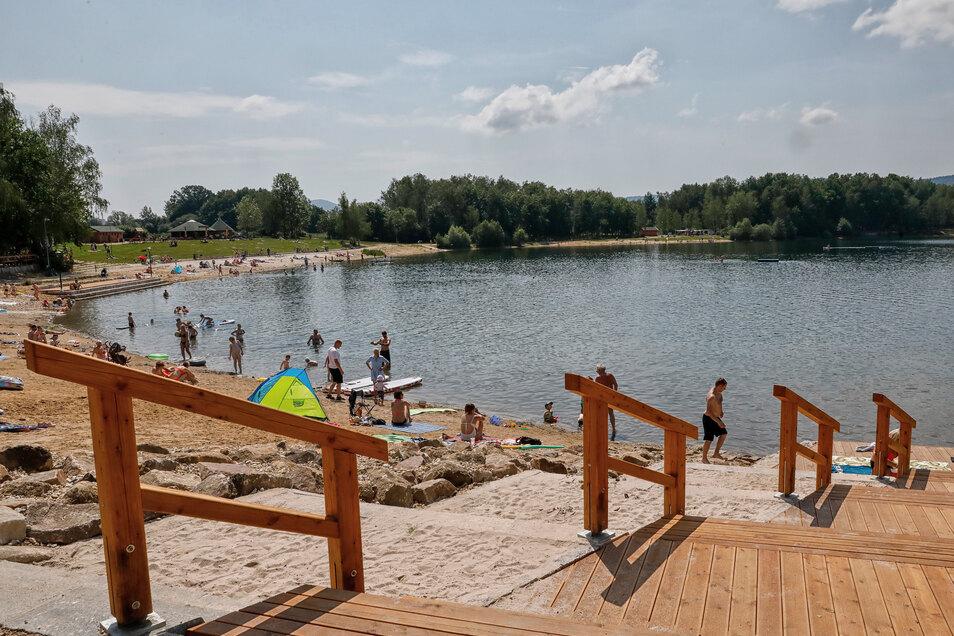 Am Kristyna-See wird am Wochenende gefeiert.