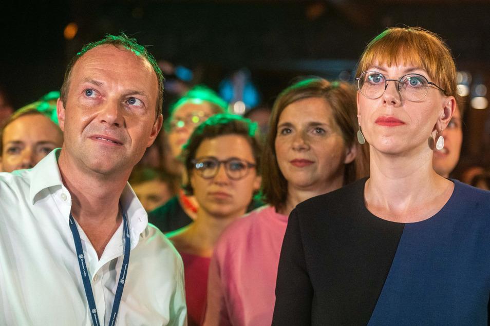 Wolfram Günther und Katja Meier vertreten Sachsens Grüne als Umwelt- und Justizminister am Kabinettstisch in Dresden