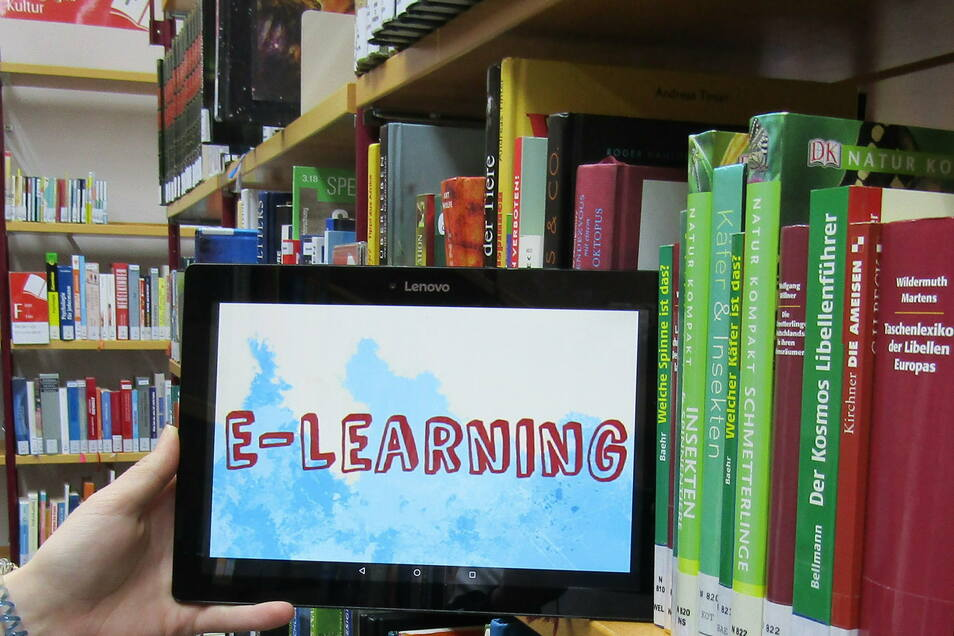 E-Learning, Bibliothek. Foto: Stadtbibliothek G. E. Lessing