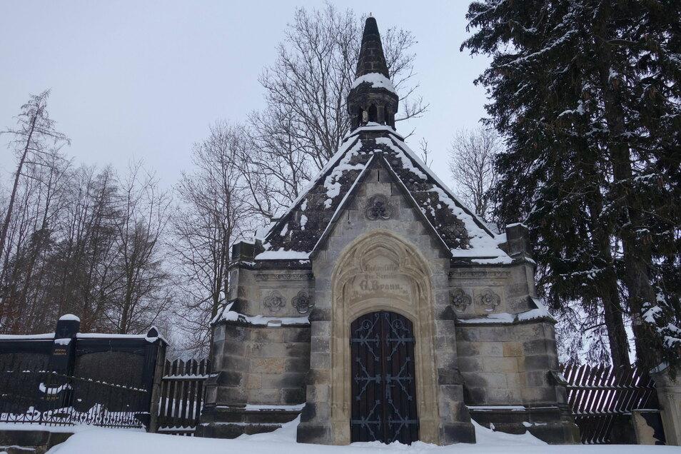 Das neogotische Mausoleum steht seit einem Jahr unter Denkmalschutz.