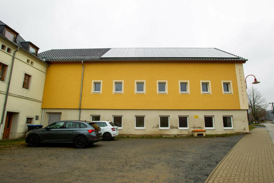 Die Sporthalle unterhalb der Förderschule in Ehrenberg.