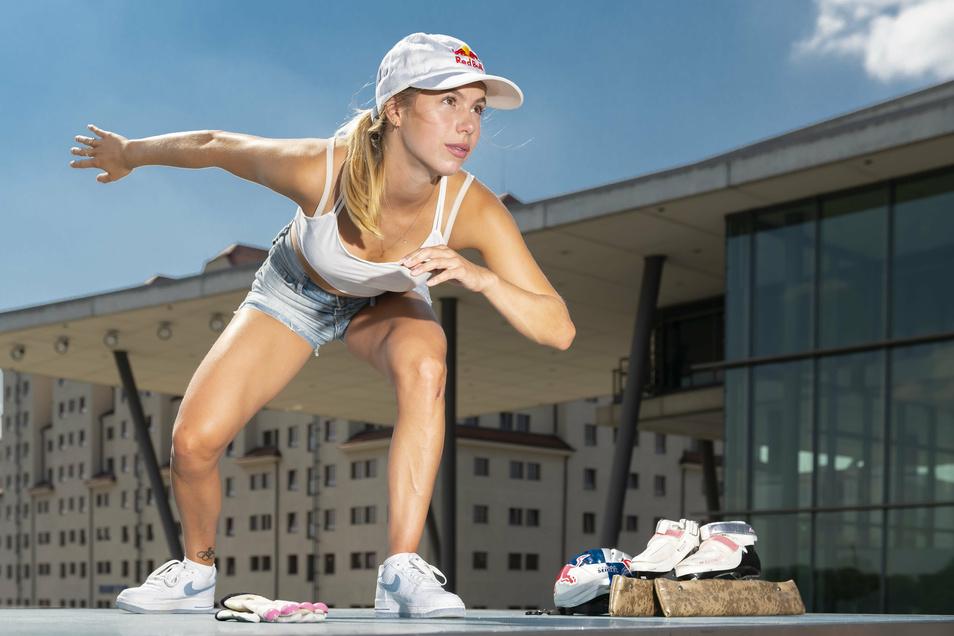 Trockenübungen waren während der Corona-Zwangspause lange die einzige Alternative für Anna Seidel. Von ihrem Ziel bringt sie das aber nicht ab.