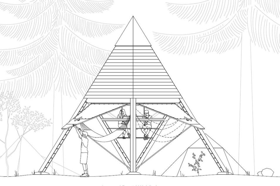 Gehört zu den Siegern: Der Entwurf von Leonard Faust wird in den kommenden Wochen am Forststeig gebaut.