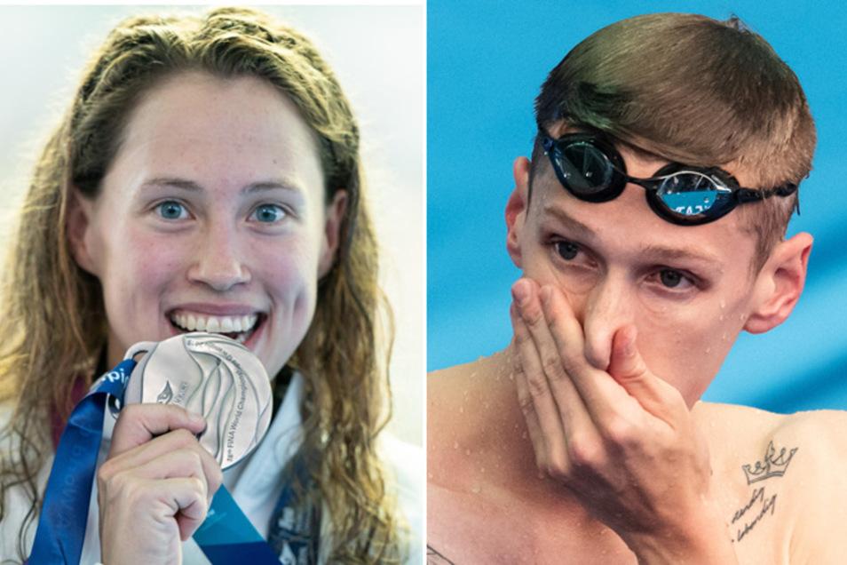Erst scheidet Florian Wellbrock im Vorlauf aus, dann gewinnt Sarah Köhler Silber.