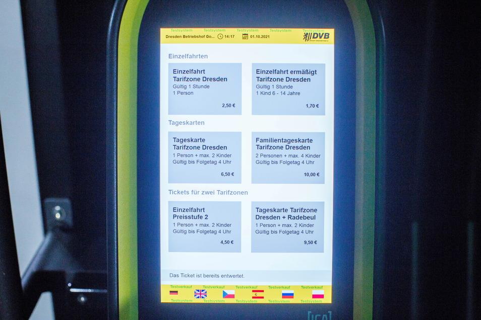 Ein Highlight ist der neue Ticketautomat in den Bahnen.