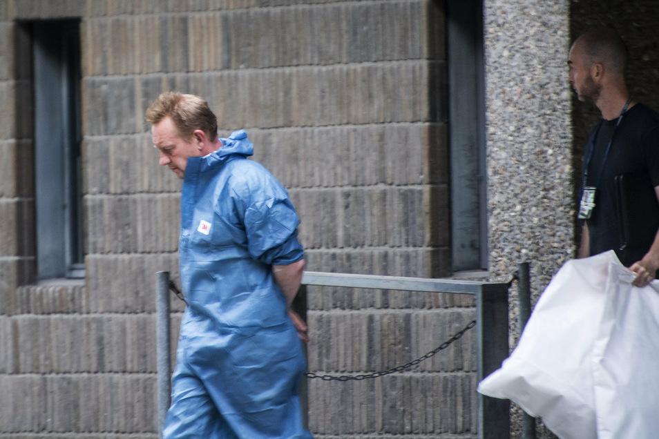 Der dänische Erfinder Peter Madsen während seines ersten Gerichtsverfahrens.