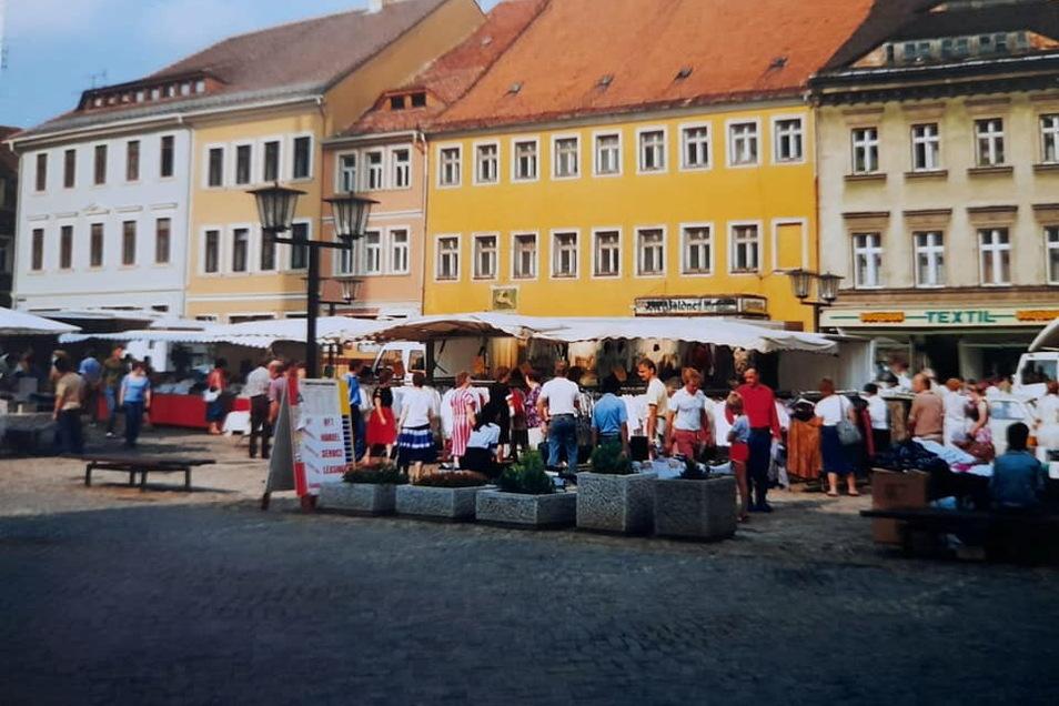 Markttag in Kamenz in den Neunzigern.